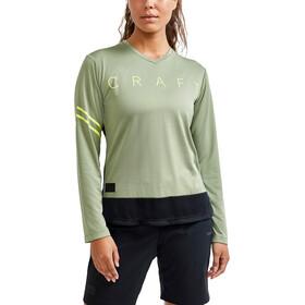 Craft Core Offroad XT LS Jersey Women, verde/negro